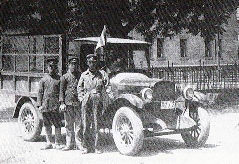 札幌地区の札幌自動車合資会社の郵便自動車